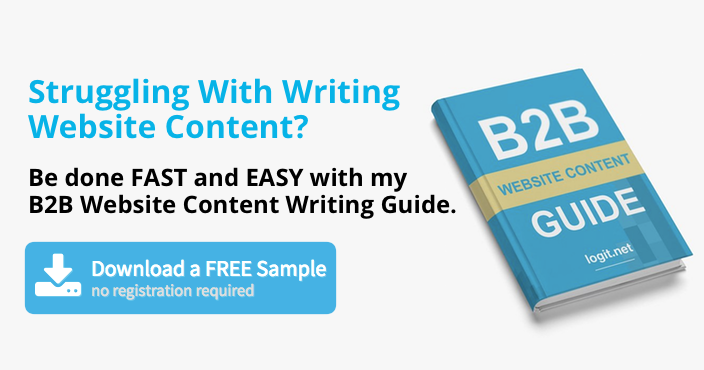 B2B Website Content Writing Guide by Visnja Zeljeznjak, logit.net