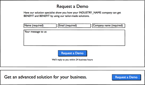 Example of a digital wireframe created in Balsamiq